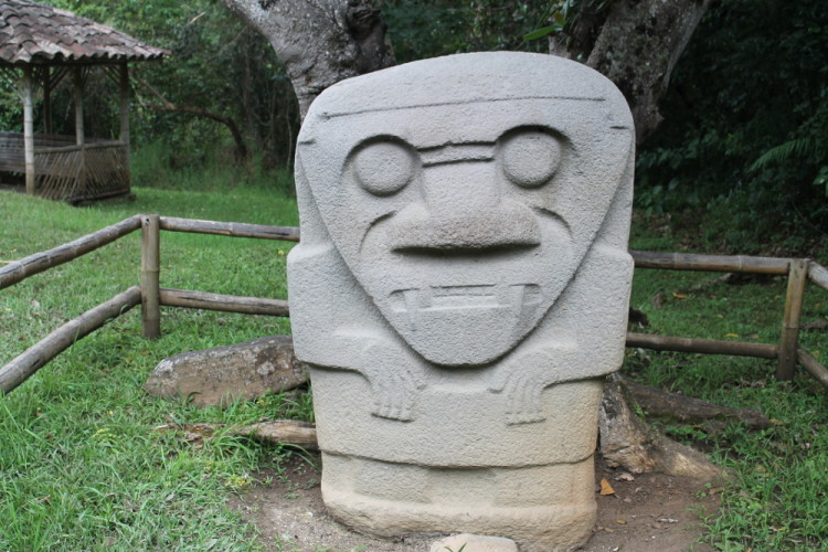 Statue ruins in San Agustin, Colombia