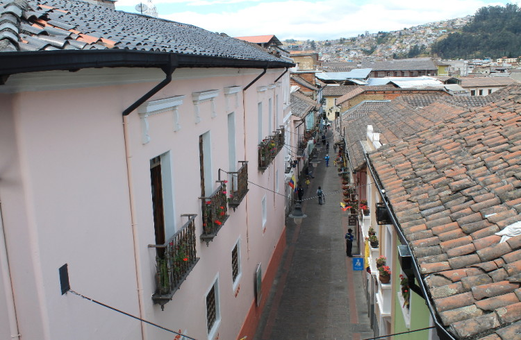 Quito old town, Ecuador: La Ronda restaurants