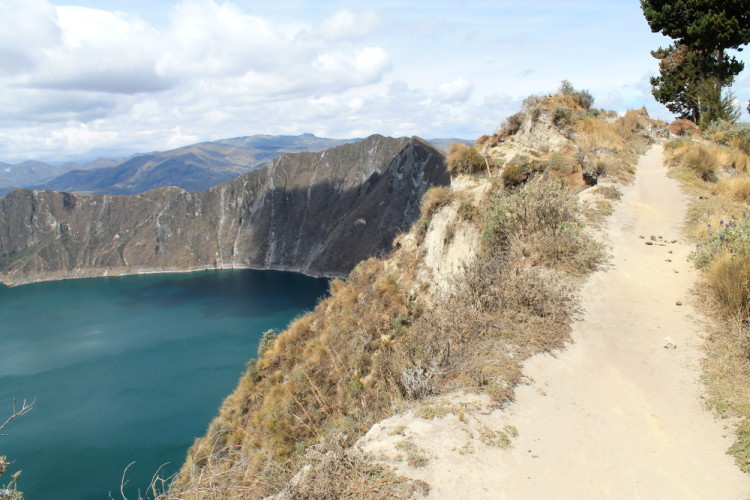 Walking around Laguna Quilotoa