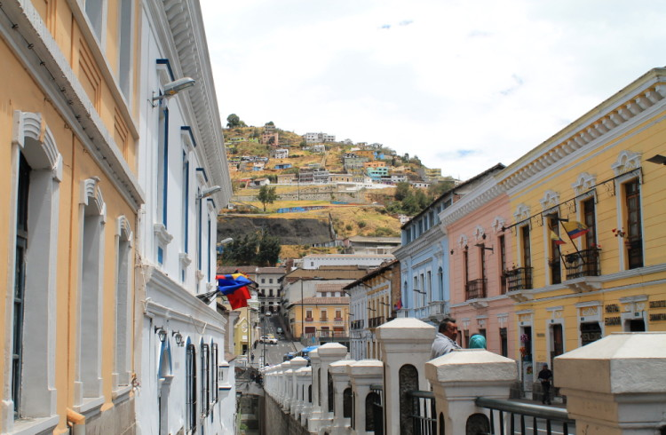 Quito old town, Ecuador: Historic streets
