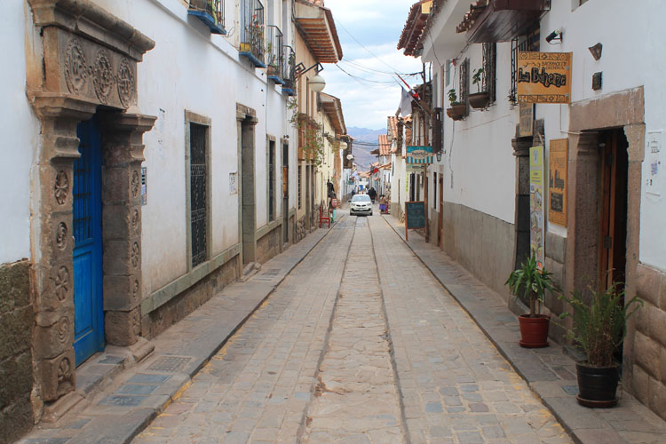 Spanish style and Inca ruins in Cusco, Peru -- Barrio de San Blas