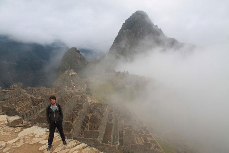 Cloud covered Machu Picchu