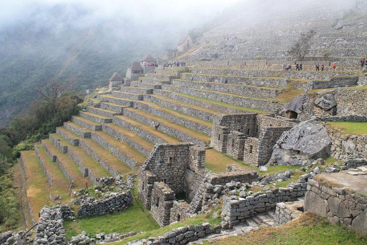 Machu Picchu terraces - a wonder of the world in Peru
