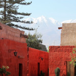 Walking the Streets of  the Santa Catalina Monastery in Arequipa, Peru