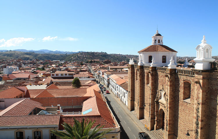Sucre, Bolivia from above