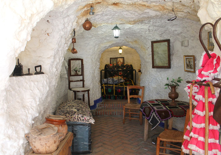 Cave house in Sacramonte, Granada, Spain