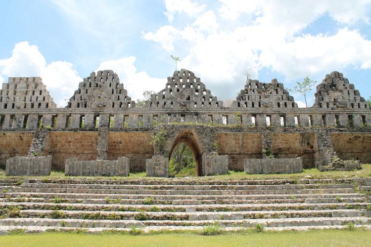 City wall of Uxmal, Mexico