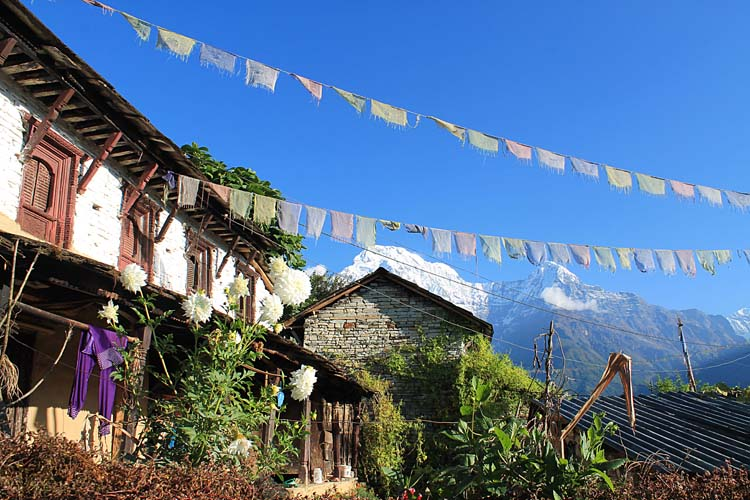 The 4 day Poon Hill Trek, Nepal : Ghandruk village