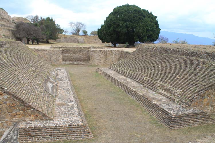 Two days in Oaxaca, Mexico: Ball court at Monte Alban