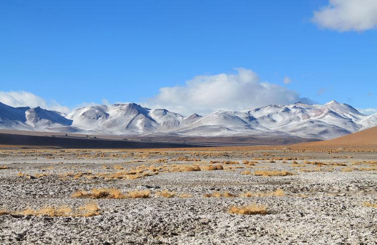 Uyuni salt flat tour, Bolivia: Snow-capped mountains