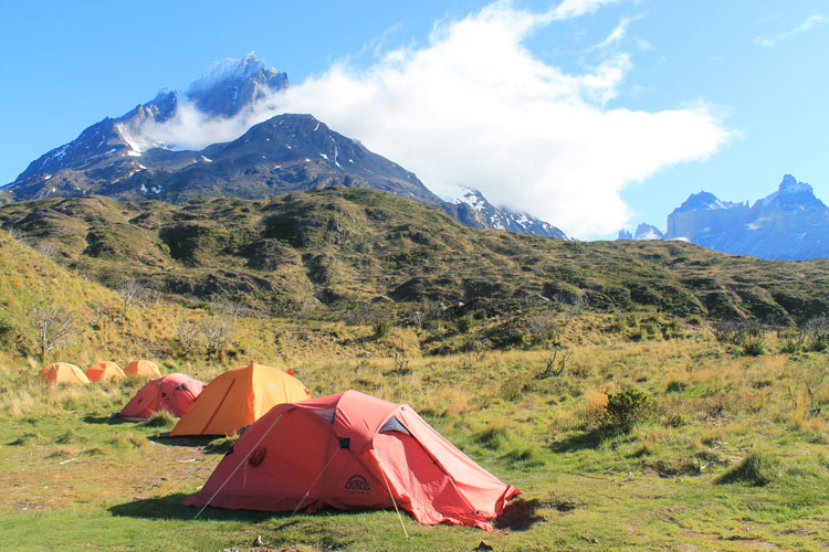 The W Trek, Torres del Paine National Park: Paine Grande camp site