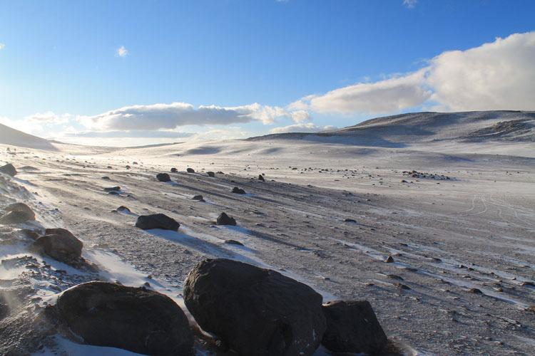 Uyuni salt flat tour, Bolivia: Morning snow