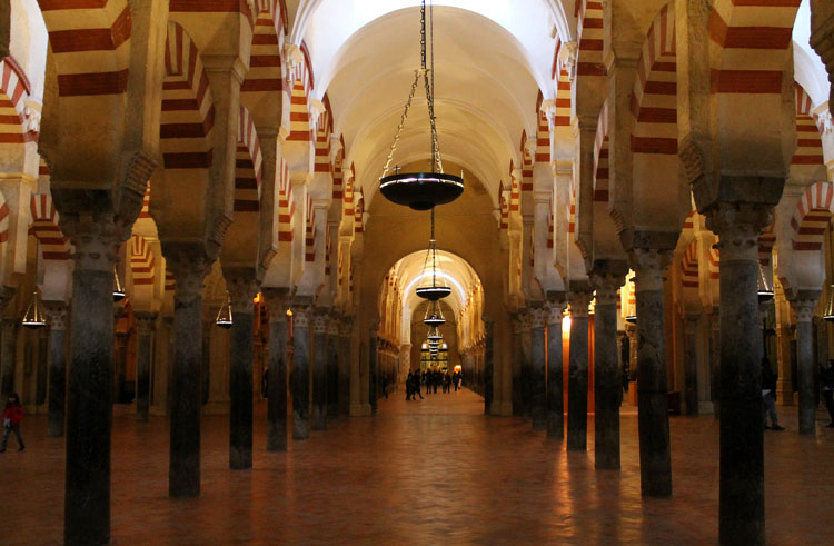 2 days in Córdoba, Spain -- candy cane arches of the Mosque / Cathedral