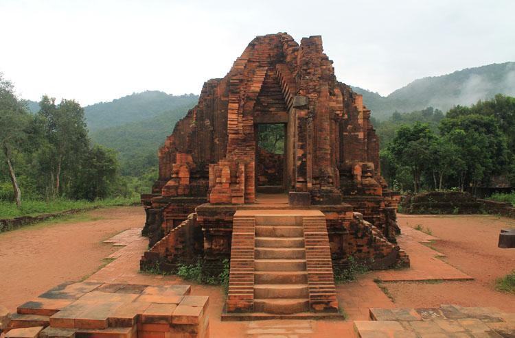 My Son ruins, Vietnam -- a hilltop temple