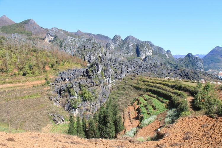 Hiking in Dong Van, Vietnam -- rural scenery in Vietnam