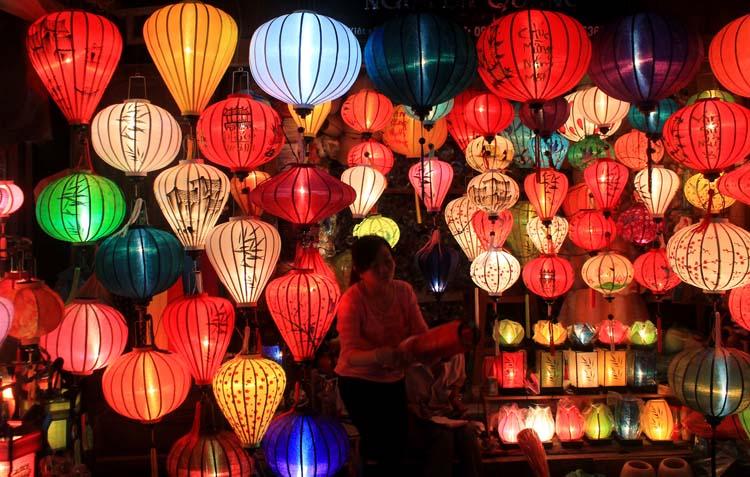 Hoi An Ancient Town, Vietnam -- a lantern shop