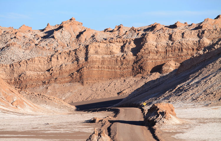 The Valley of the Moon (Valle de la Luna) in the Atacama Desert, Chile