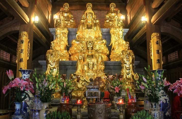 A shrine at the Trang An Grottos, Ninh Binh, Vietnam