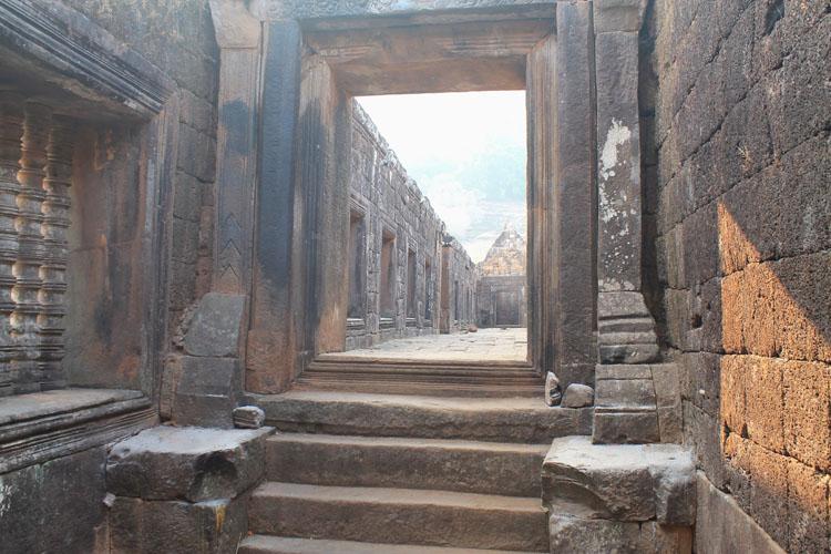A hallway at Wat Phu (Vat Phou) -- Khmer ruins in Laos