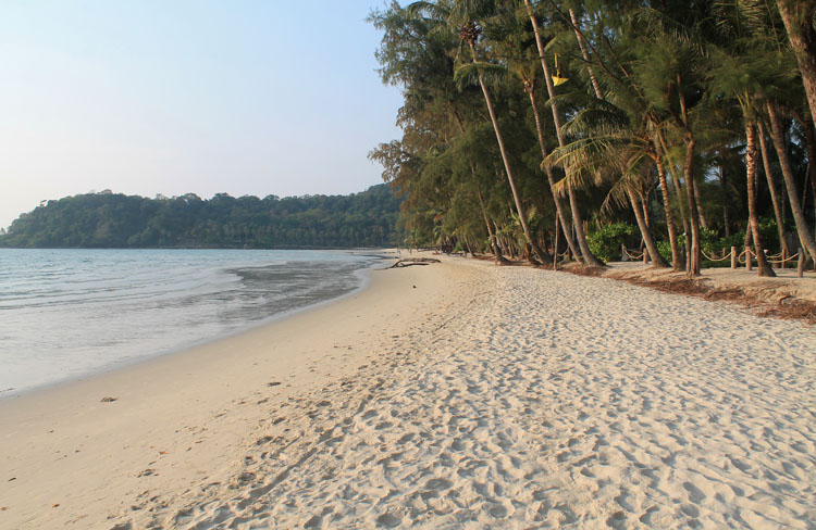 White sand Khlong Chao Beach on Koh Kood, the most beautiful island in Thailand