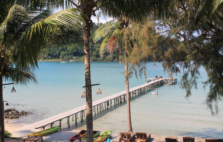 A pier at Bang Bao Bay, Koh Kood, the most beautiful island in Thailand