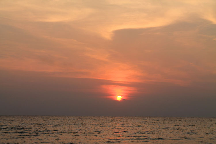 Sunset on Koh Kood, the most beautiful island in Thailand
