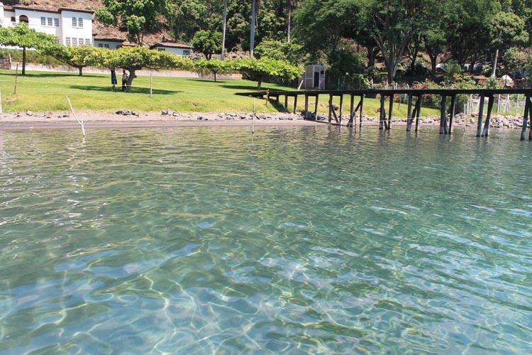 Swimming at Lago de Coatepeque, El Salvador