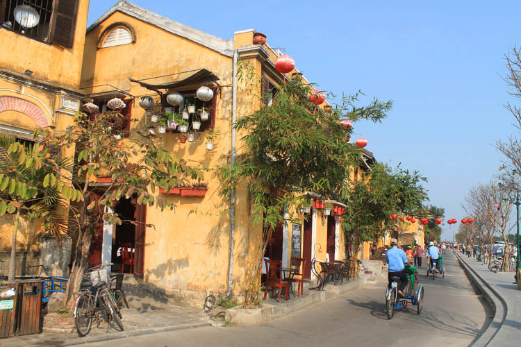 Hoi An Ancient Town, Vietnam -- local bicycle taxis