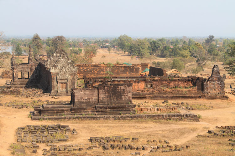 One of the palaces at Wat Phu (Vat Phou) -- Khmer ruins in Laos