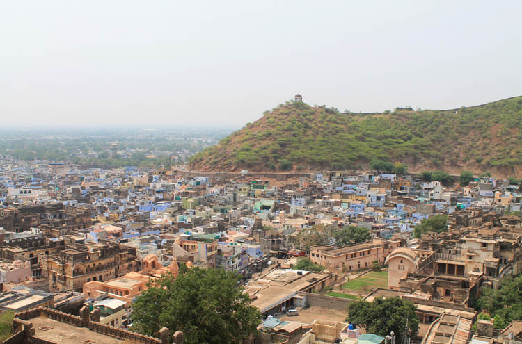 The streets of Bundi, Rajasthan, India -- Bundi from above