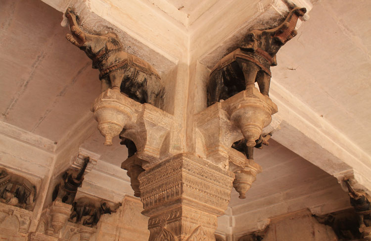 The streets of Bundi, Rajasthan, India -- Elephants at Garh Palace