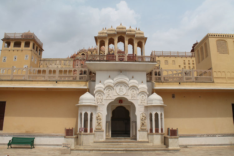 Touring the Forts and Palaces in Jaipur, India -- inside Hawa Mahal