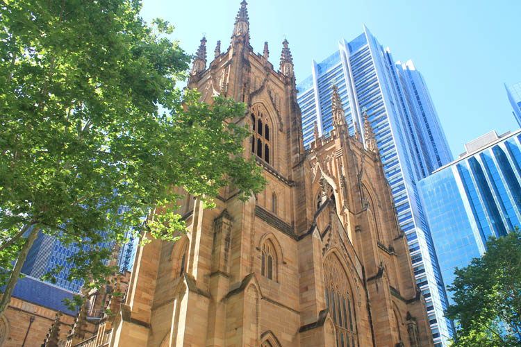 A day in Sydney, Australia -- St Andrew's Cathedral