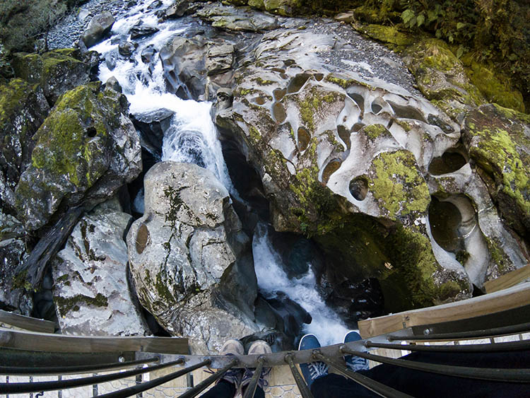 The Chasm, a cool short hike on the way to Milford Sound, New Zealand