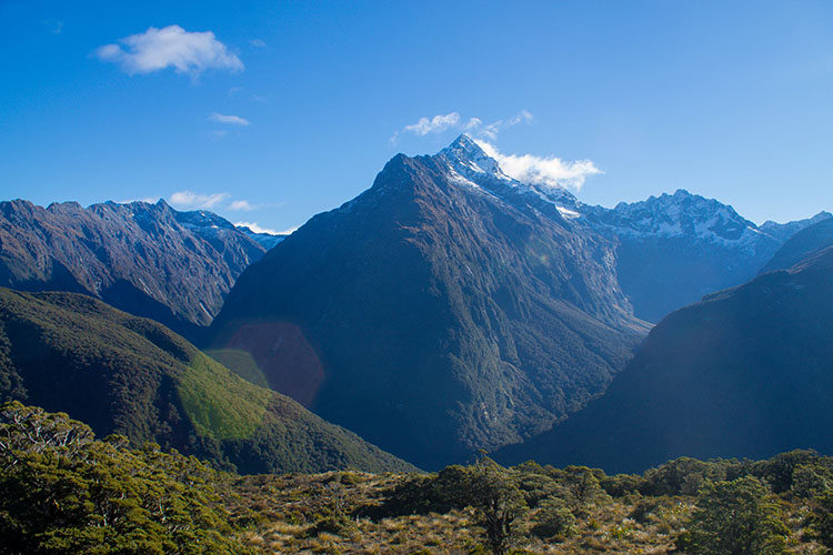 The view from Key Summit, a nice hike in Fiordland National Park, New Zealand
