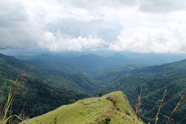 The view from Little Adams Peak, at the hill country in Sri Lanka