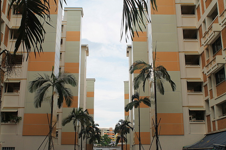 An HDB flat block in the Singapore suburb of Tampines