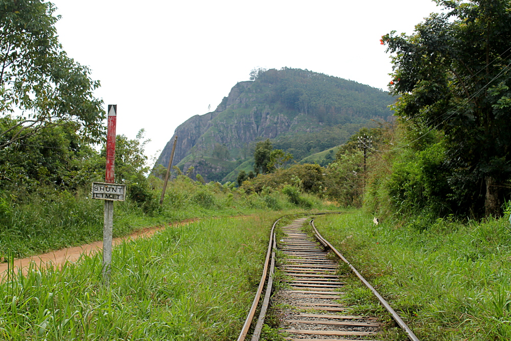 A train track on the way to Ella Rock, at the hill country in Sri Lanka