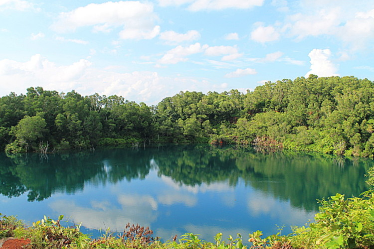 A photogenic quarry on Pulau Ubin, Singapore