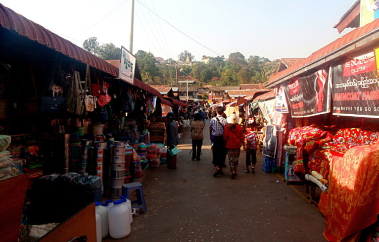 A market in Burma, a great place for bargaining in Southeast Asia