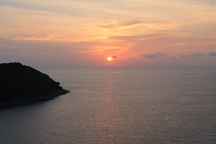 A highlight when you travel to Phuket is seeing sunsets like this one at Naiharn
