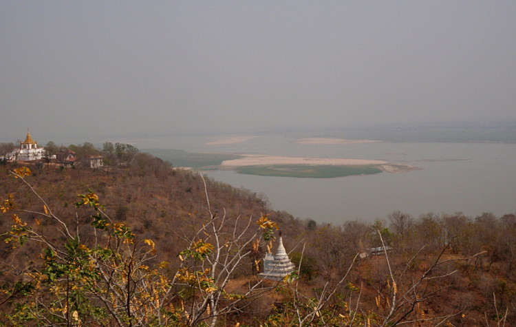 The view from Sagaing Hill, one of the old capitals in Mandalay, Myanmar