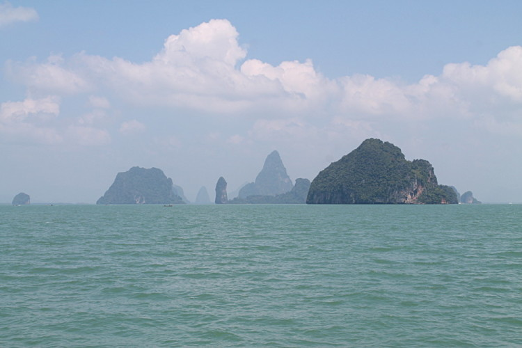 Limestone islands on the Phang Nga Bay tour, a great thing to do if you travel to Phuket