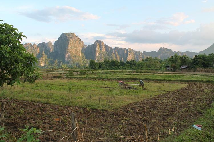 A farm in Vang Vieng, Laos