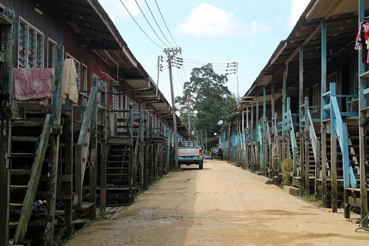 A village near Niah Caves just outside Miri, Sarawak, Malayisa