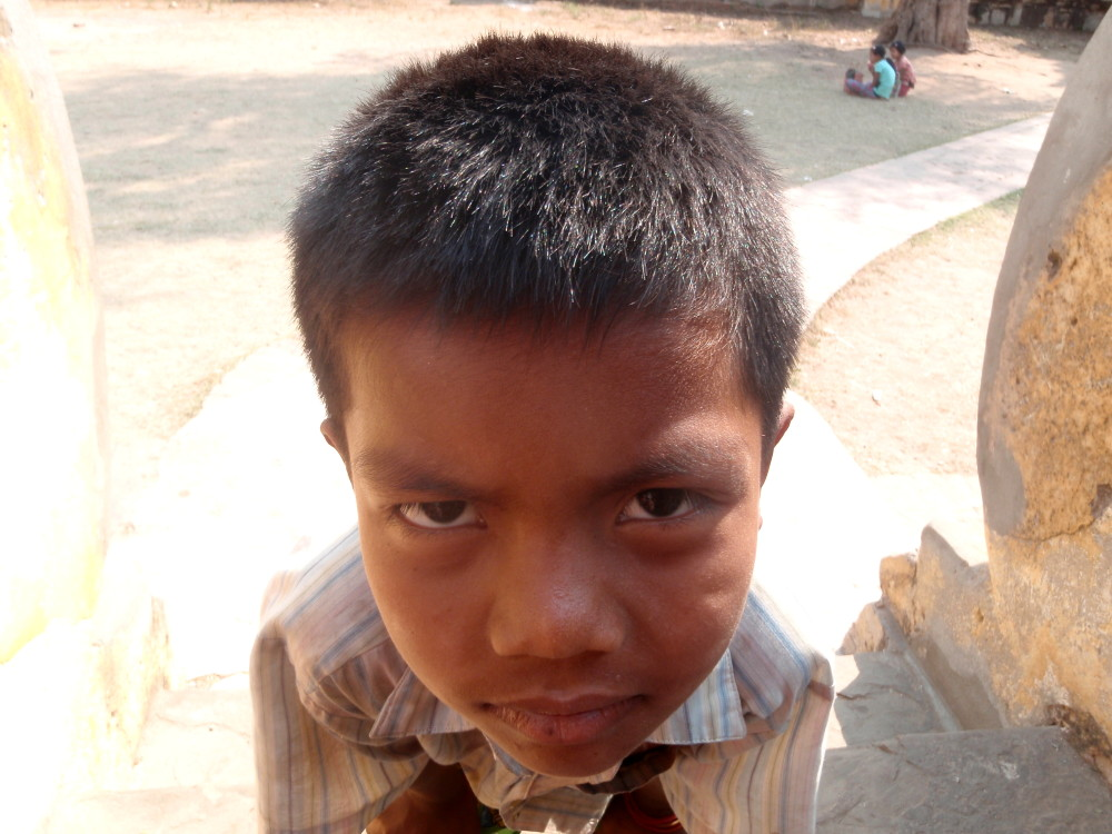 A kid I met travelling in Myanmar who tried to scam me