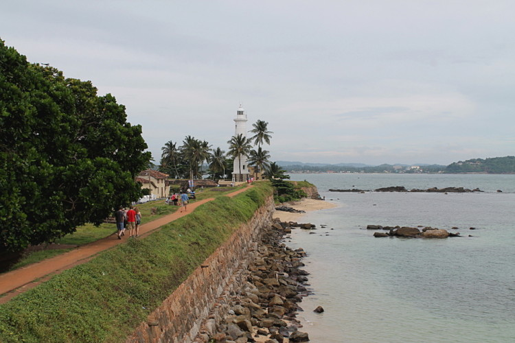 View from Galle Fort, along the coast of Galle, Sri Lanka