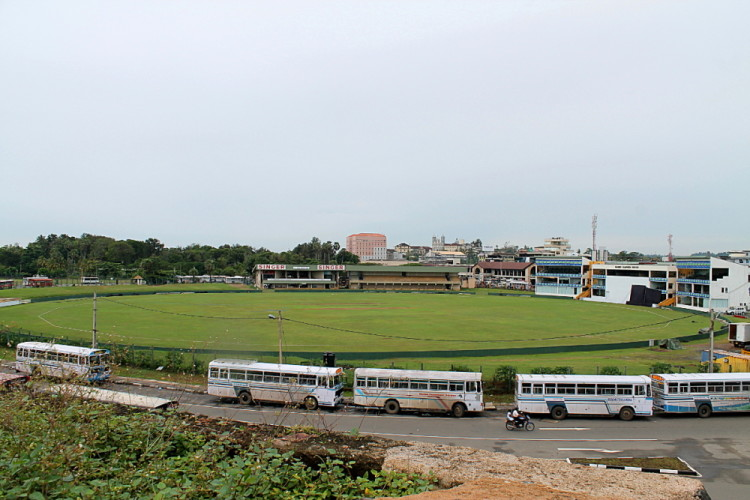 Galle cricket ground in Galle, near the Galle fort in west coast Sri Lnaka