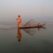 A fisherman and his daughter on Inle Lake, Burma (Myanmar)