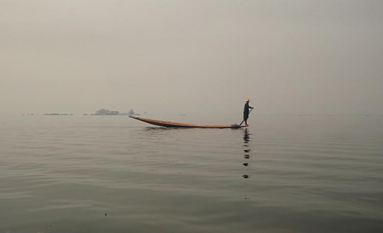 A fisherman on Inle Lake, Burma, Myanmar